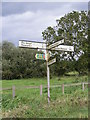 TM2758 : Roadsign on Hoo Road by Adrian Cable