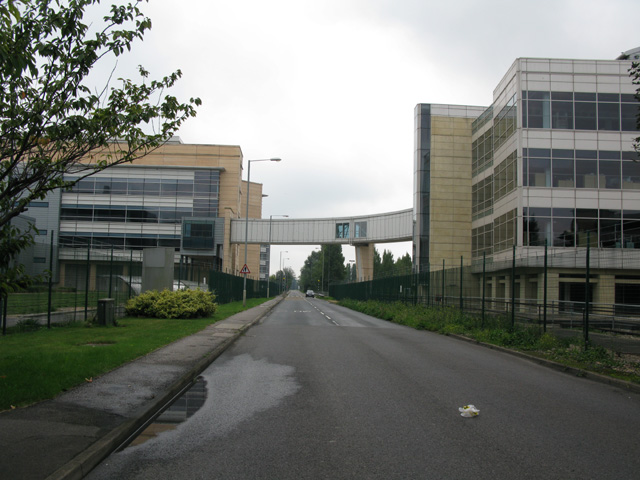 The Ramsgate Road passing through the Pfizer site