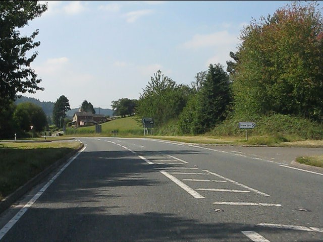 A44 at the junction for Newton