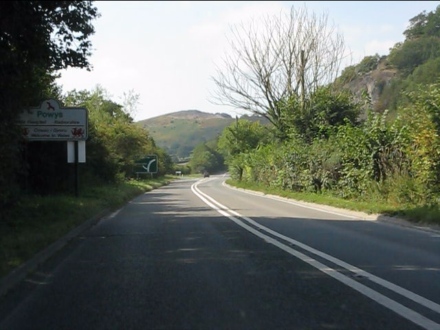 A44 enters Wales
