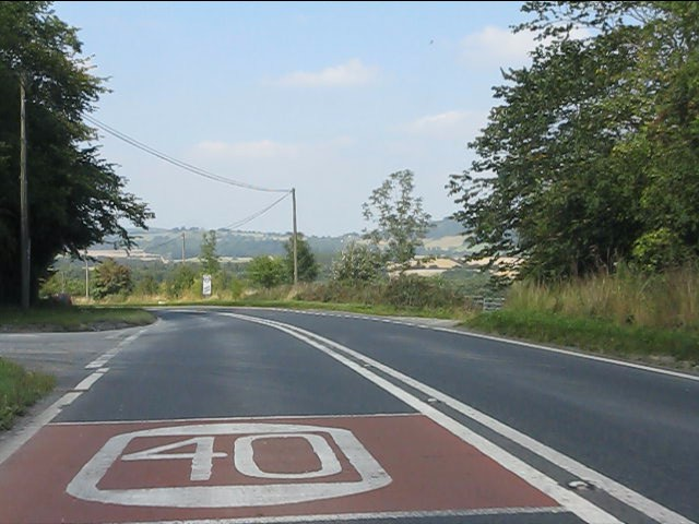 A44 at the north end of Gore cutting