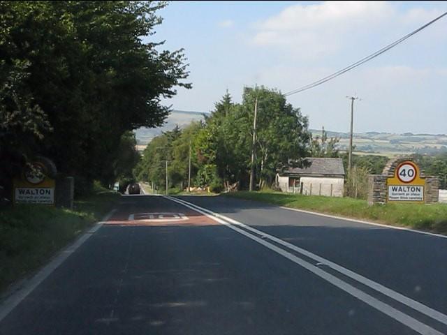 A44 enters Walton