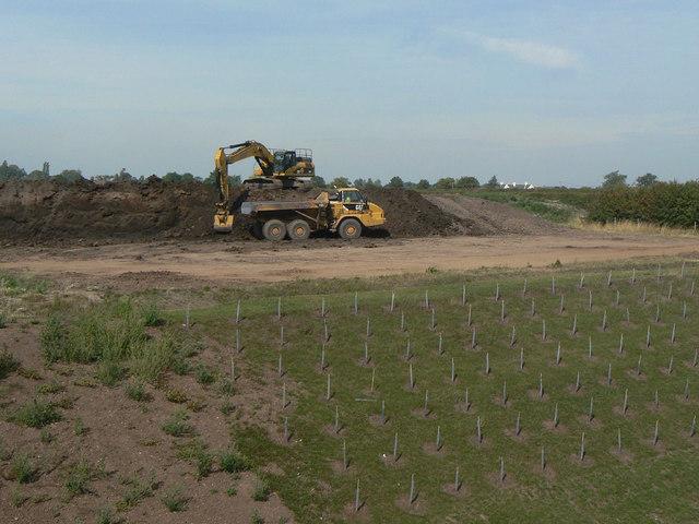 Landscape restoration on the new A46