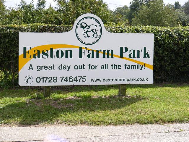 Easton Farm Park sign