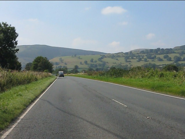 Hills around New Radnor from the A44