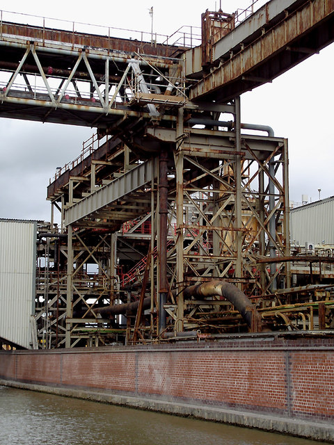 Industrial structures by the canal near Northwich, Cheshire