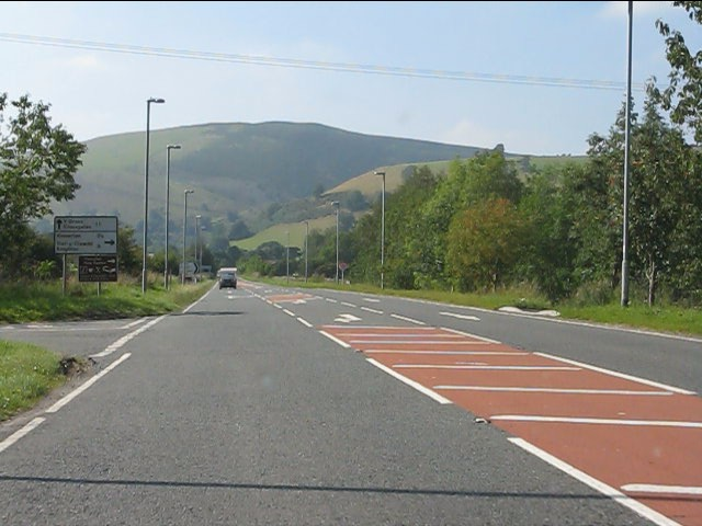 A44 - eastern junction for New Radnor