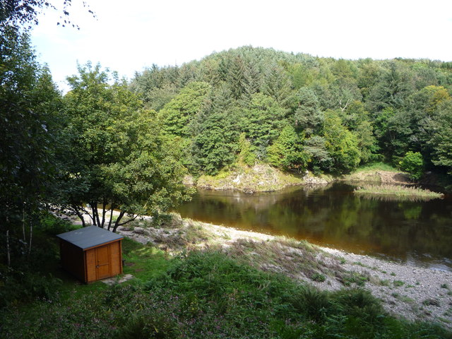 Anglers' hut on the River Deveron