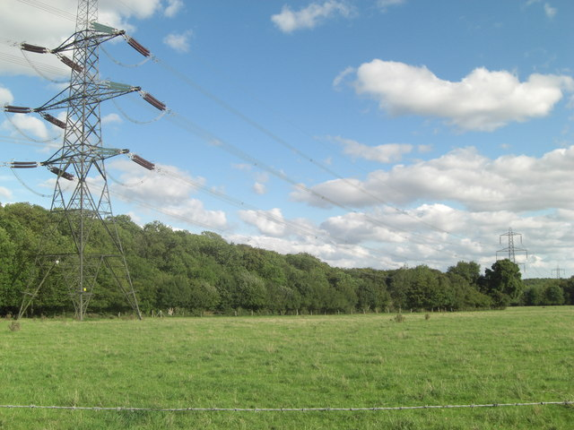 Power lines beside Bennet's Wood