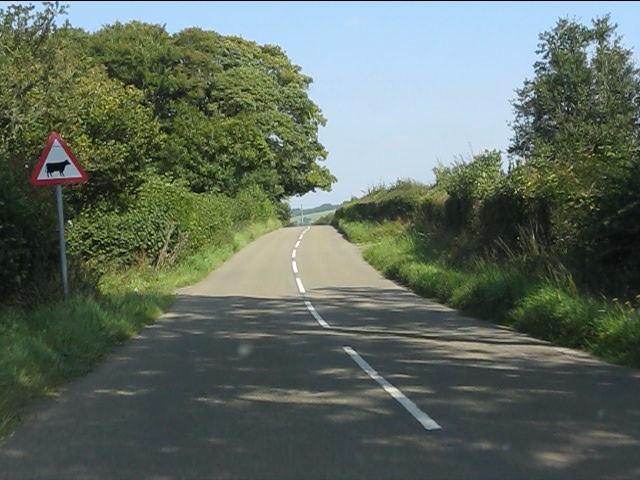 B4372 approaching Badland Farm