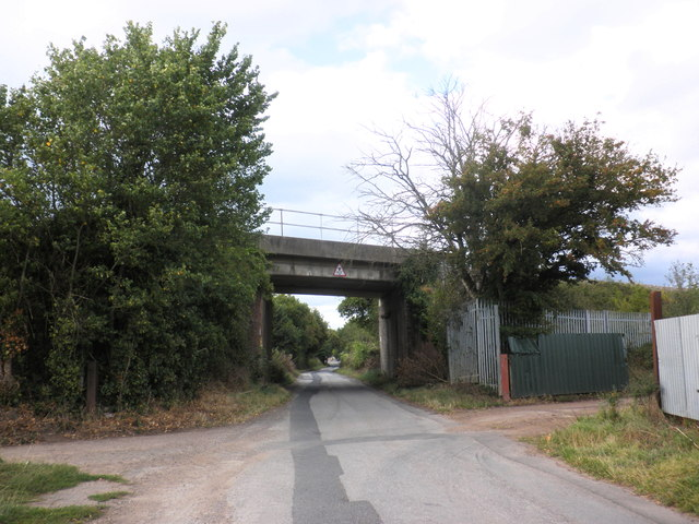 Railway overbridge, Lower Bullingham
