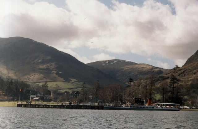 The 'Lady of the Lake' rests at Glenridding Pier