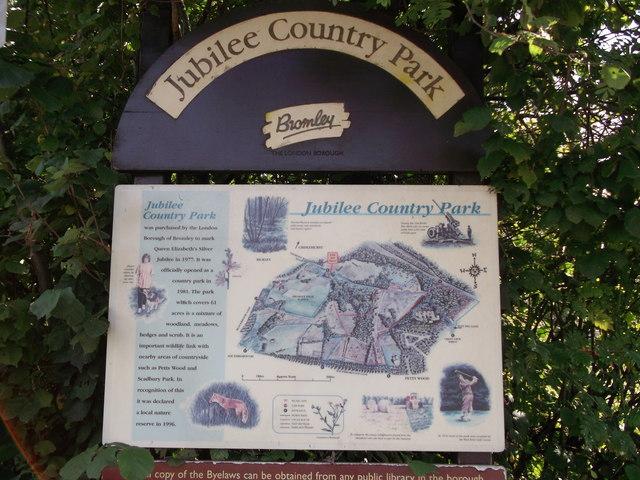 Jubilee Country Park Information Board