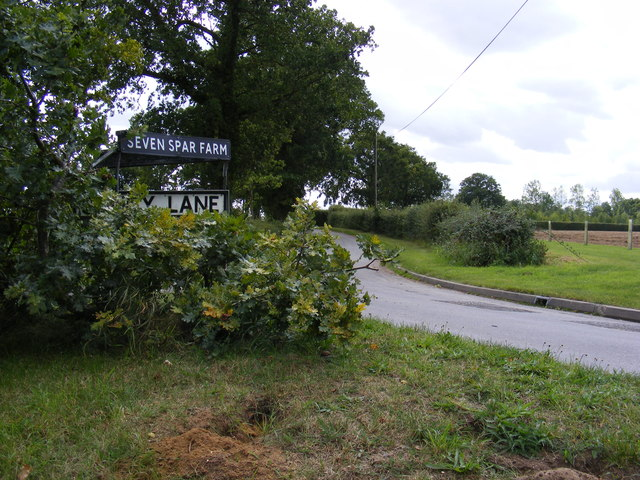 Sandy Lane & Seven Star Farm signs