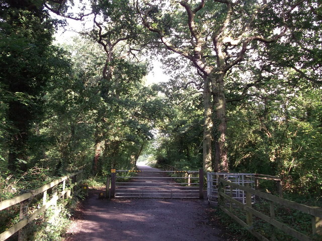 Gate on the cycletrack in Thornet Wood