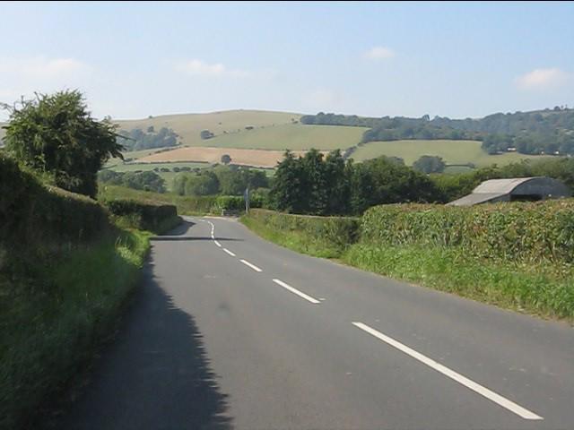 Barn alongside the B4356