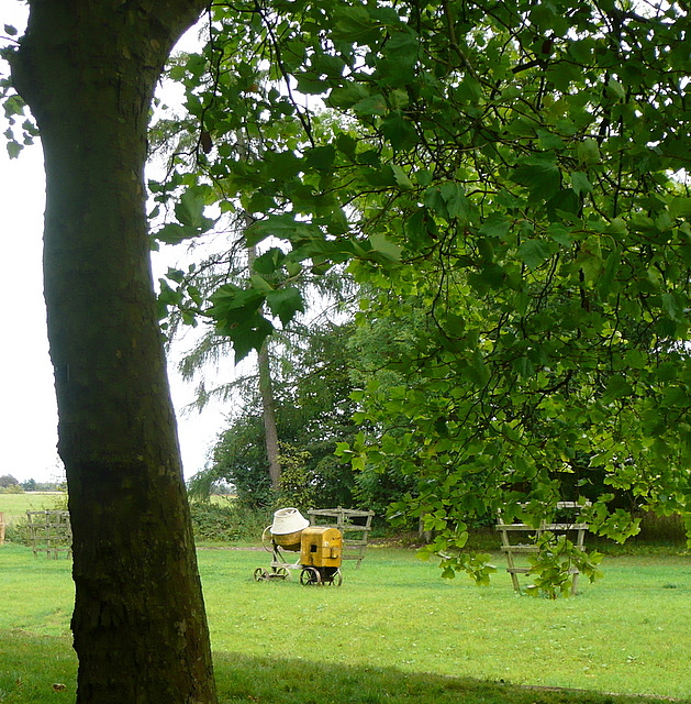 Stowe Park, the cement mixer