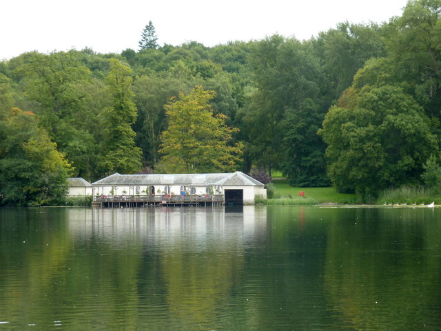 The Boathouse, Lakeside cafe and landing stage, Castle Howard