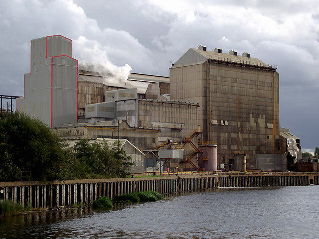 River Weaver and chemical works near Anderton, Cheshire
