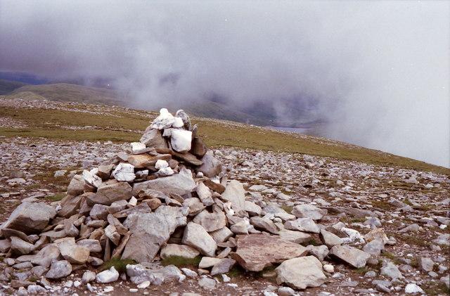 Summit cairn on Beinn Mhanach