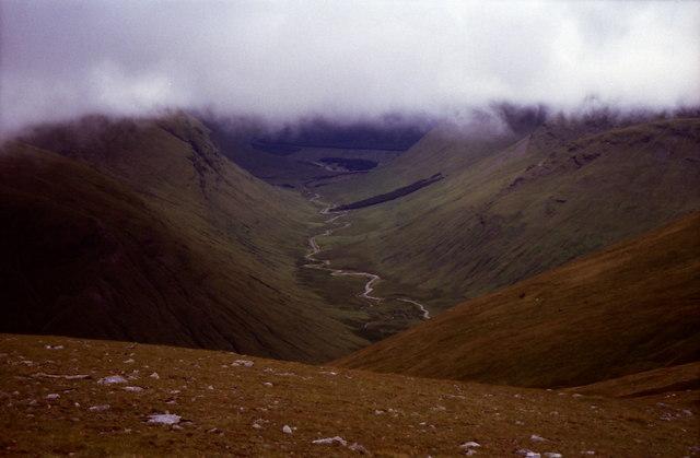 View from summit cairn on Beinn Mhanach