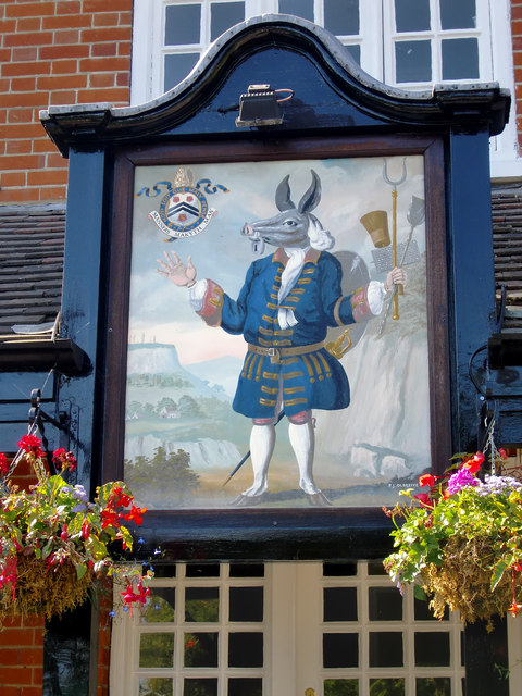 Pub sign: The Trusty Servant, Minstead, New Forest