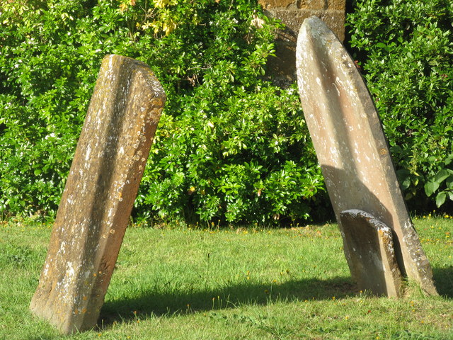 Gravestones outside St Etheldreda's Church Horley, Oxfordshire.