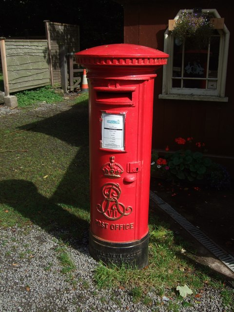 Edward VII postbox at Laxey station