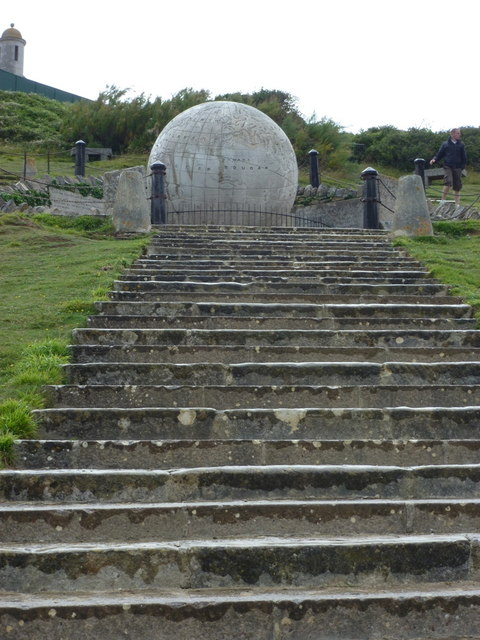 Swanage: steps to the globe