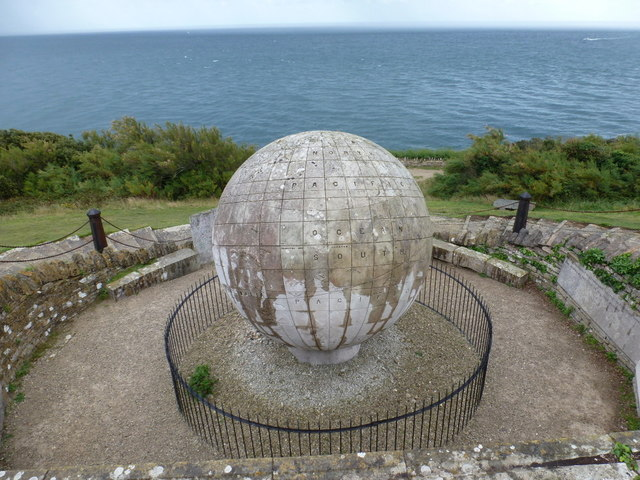 Swanage: the globe and the sea