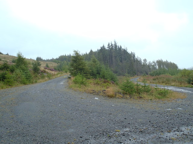 Track junctions north of Shiel of Castlemaddy
