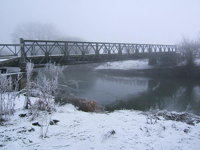 Bailey Bridge across the Yorkshire Derwent