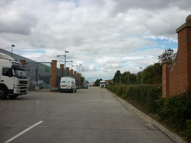 The rear of Asda supermarket