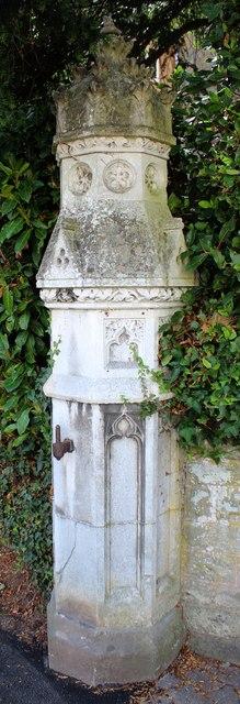 Gate pillar, Church Street, Malvern