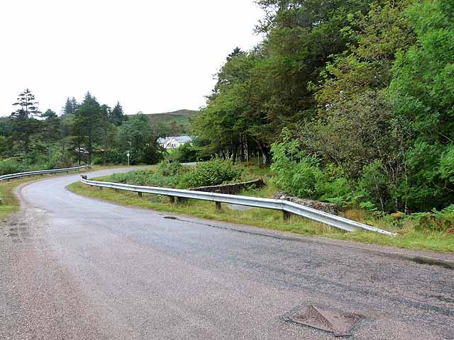 Old road and bridge near Loch an Torr