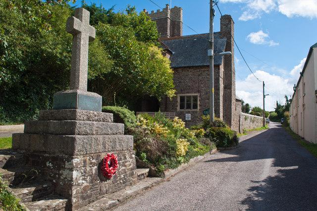 The War Memorial near the church at Westleigh