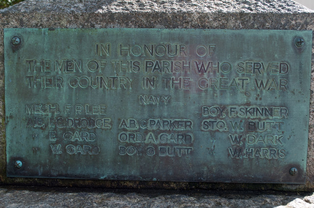 A plaque on the left side of the War Memorial at Westleigh