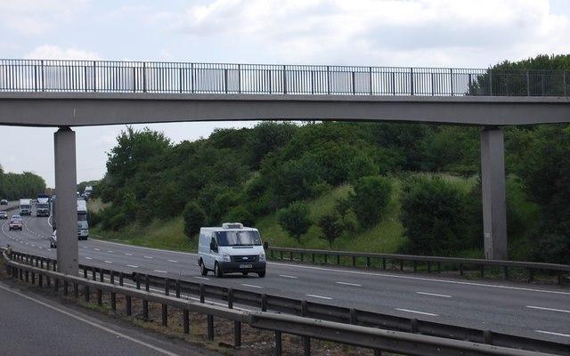 Footbridge over the A14