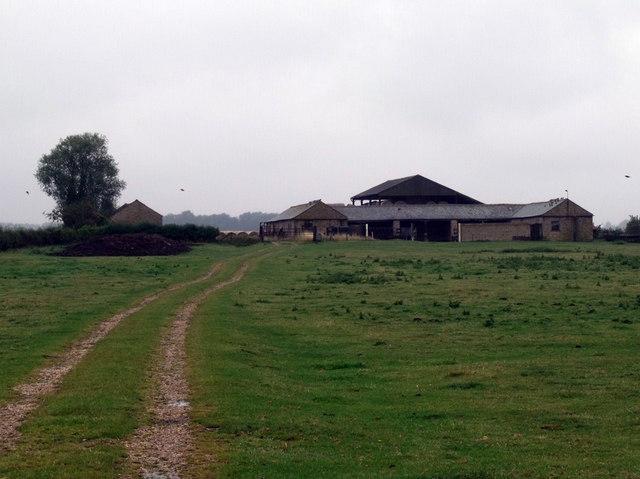 Track to Farm Buildings near Wood Enderby
