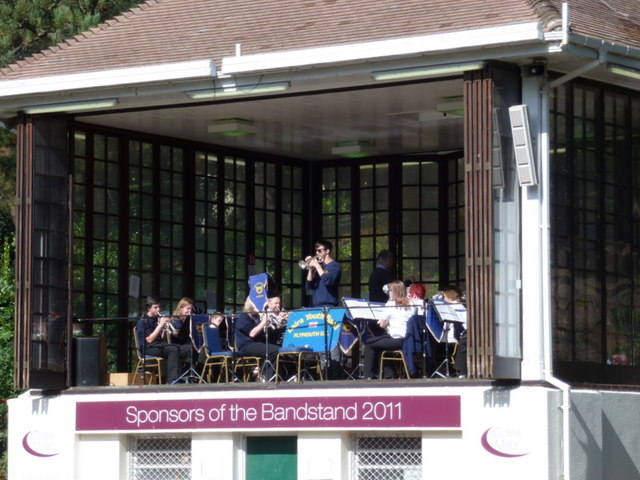 Bournemouth: band playing in the Lower Gardens
