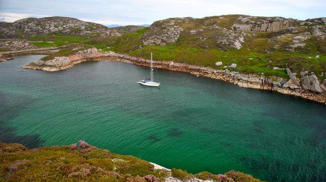 Tinkers Hole anchorage Erraid
