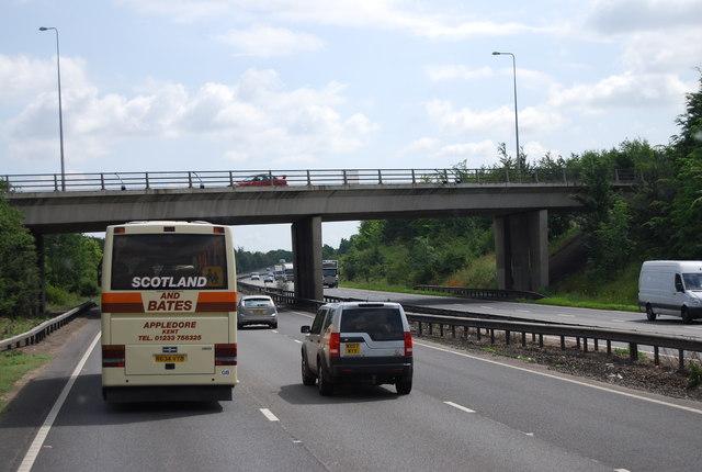 A142 bridge over the A14