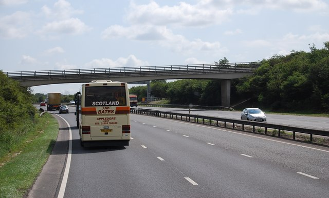 Footbridge over the A14 near Snailworth