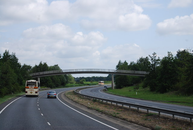 Footbridge over the A11, Red Lodge