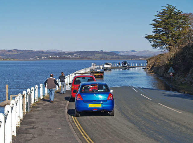 Very High Tide on the road to Arnside