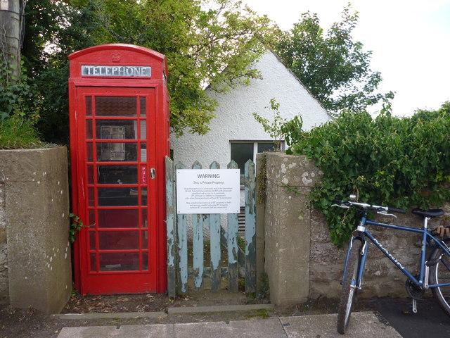 Rural East Lothian : Telephone Box and Exchange at Stenton