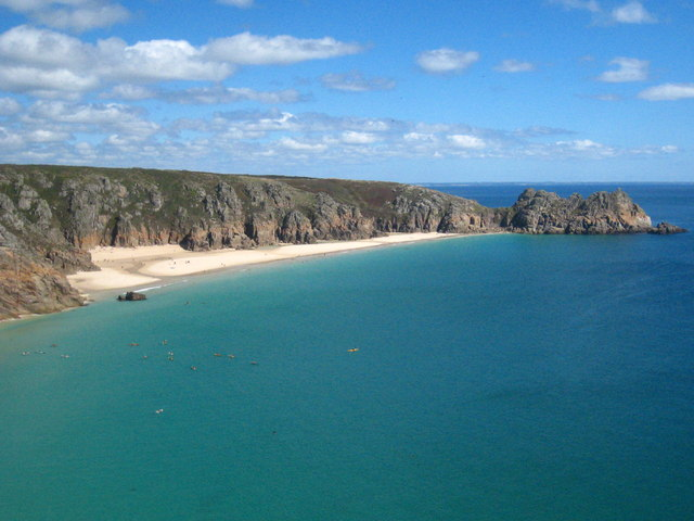 Pednvounder Beach and Treryn Dinas headland
