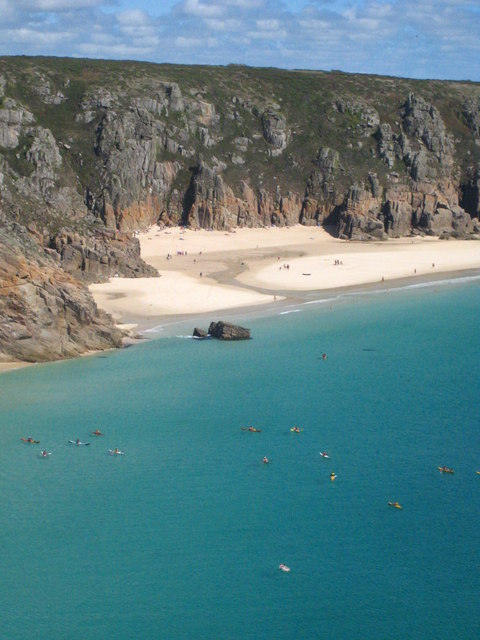 Pednvounder Beach and Treen Cliff