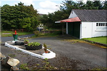 SN1430 : Former garage in Mynachlog-ddu by Bill Boaden