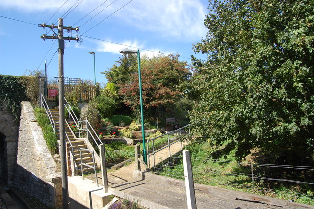 Steps from the road at Herston Halt